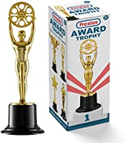 Prextex 10-Inch Gold Movie Buff Award Trophy for Trophy Awards and Party Celebrations, Award Ceremony, and App