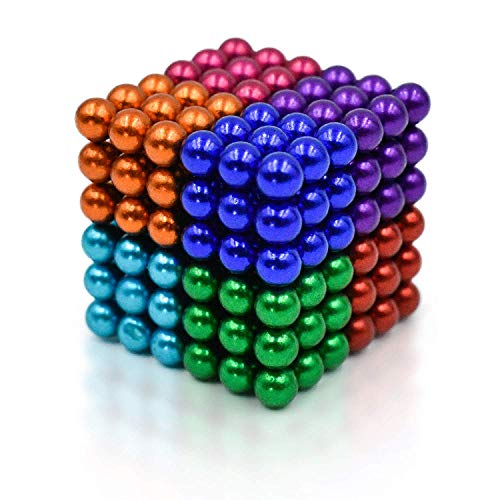 (ROPPYAR 222 Pcs Magnetic Ball, Magnetic Blocks Magnetic Sculpture Holders, Children's Puzzle Magic Cubes DIY Educational Toys for Kids (Multiple Colors))