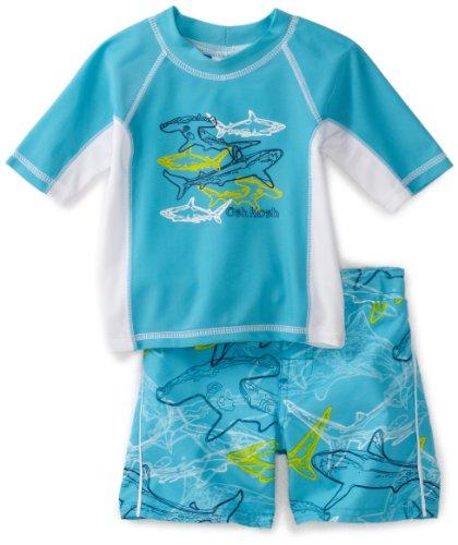 Osh Kosh Baby Boys' Shark Rash Guard Set