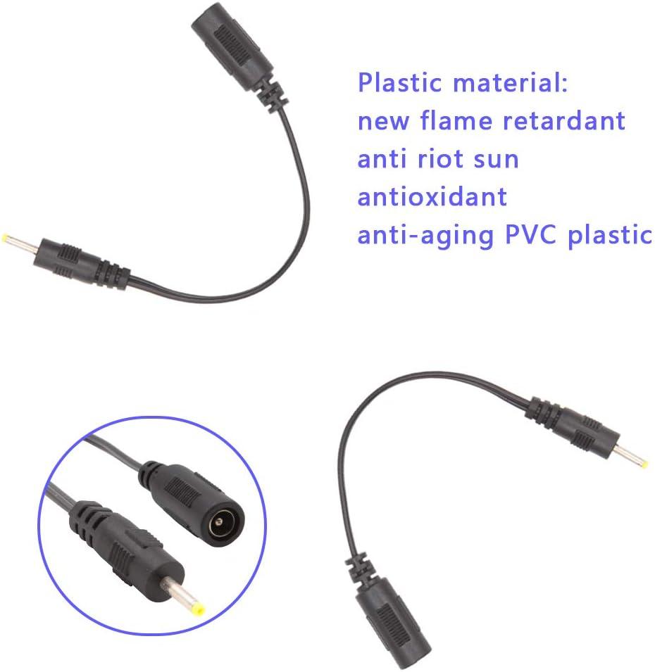c/ámara Monitor 5.5mm x 2.1mm Hembra a 5.5mm x 2.5mm Macho DC Plug Cable de extensi/ón 17cm DC Plug Power Connector Adaptador de CA 2PC para Tira de LED