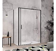 Frente de ducha MASELA, puerta corredera PERFIL CROMADO ALTO ...