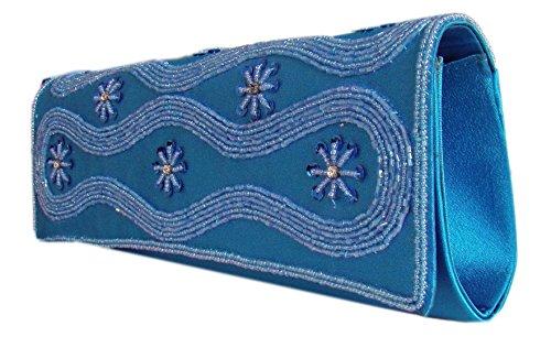 Wunderschöne Damen Abendtasche/Party-Handtasche Blau, Royalblau