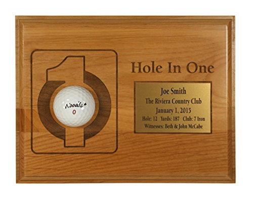 Hole-In-One Laser Etched Plaque with Free Engraved Plate