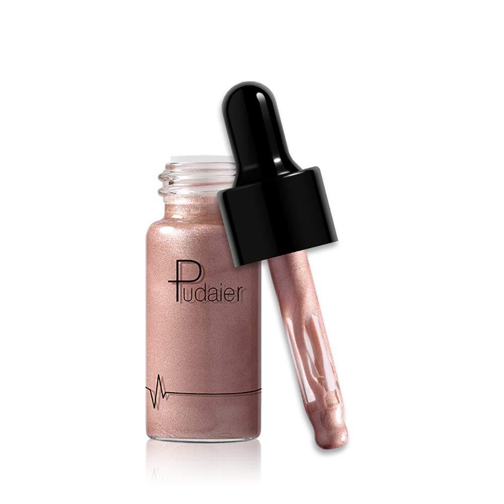 1pc impermeable duradera base líquida Glow Highlighter del maquillaje de labios Brillo Crema facial Bronceador Conto para la Mujer (1) Hilai