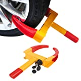 Anfan Car Wheel Lock Heavy Duty Anti-Theft Tire Lock Clamp Boot Tire Claw for Cars, Trucks, Motorcycles, Boat Trailers, Golf Cart, Lawn Mowers