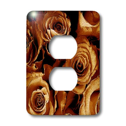 3dRose lsp_29869_6 Close up of dreamy antique gold rose bouquet Outlet Cover - Switchplate Bouquet