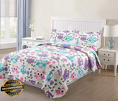 Werrox 2 Pcs Kids Bedspread Quilts Set for Boys Girls Bed Printed Bedding Set Twin Size | Size | Quilt Style QLTR-291265302