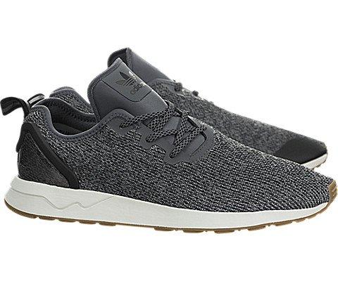 best service 25d29 f88b2 Adidas Mens Originals ZX Flux ADV Asym Shoes GreyBlackWhite 9