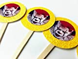 8 Pennywise IT Cupcake Picks Birthday Horror Scary Monster Halloween Decor Party Supplies