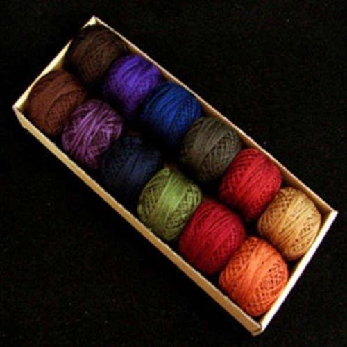 (Valdani Perle Cotton Size 8 Embroidery Thread Bigsby Designs Dark Sampler Set)