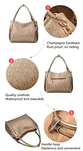 MATAGA - Bolso mochila  de Piel para mujer Red