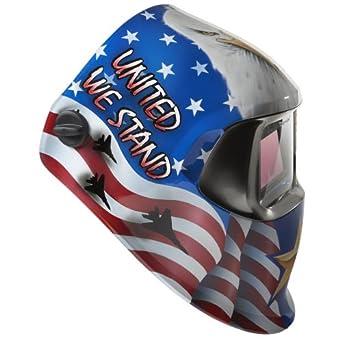 3M(TM) Speedglas(TM) American Pride Welding Helmet 100 with Auto-Darkening Filter 100V- Shades 8-12, Model 07-0012-31AP