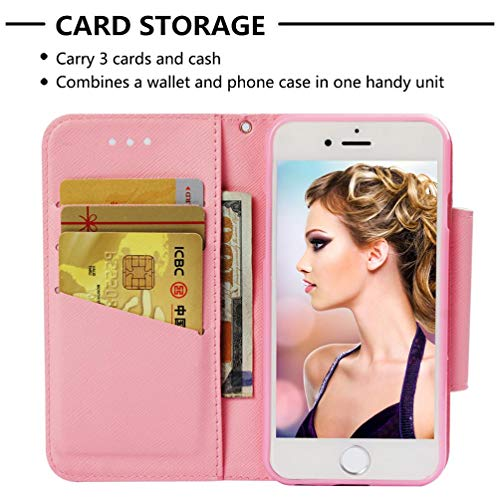 Amazon.com: Firefish Case for iPhone 6/6S,3D Printing Kickstand PU Leather Wallet Case with Magnetic Closure & Wrist Strap [Durable] Slim Shockproof Card ...