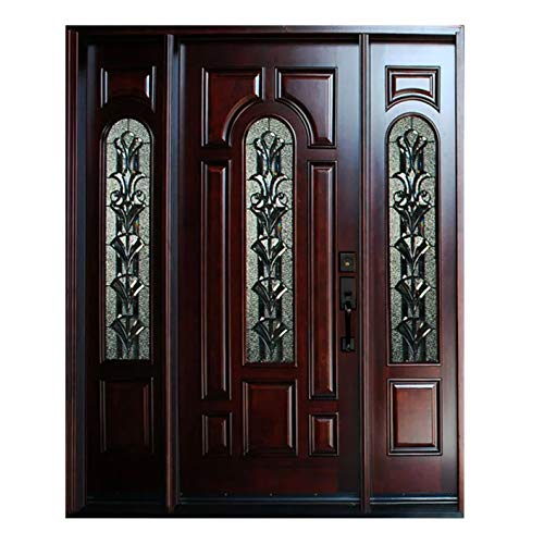 Solid Mahogany Exterior Wood Door 12
