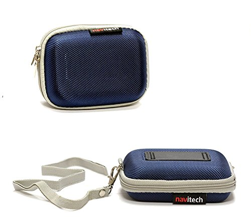 Navitech Blue Hard Protective Earphone / Headphone Case for
