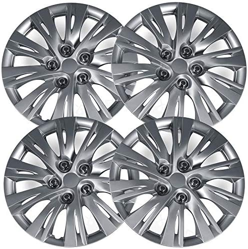 Motorup America Auto Hubcap Set of 4 Fits 14-15 Volkswagen Passat 16 inch Snap On Wheel Covers