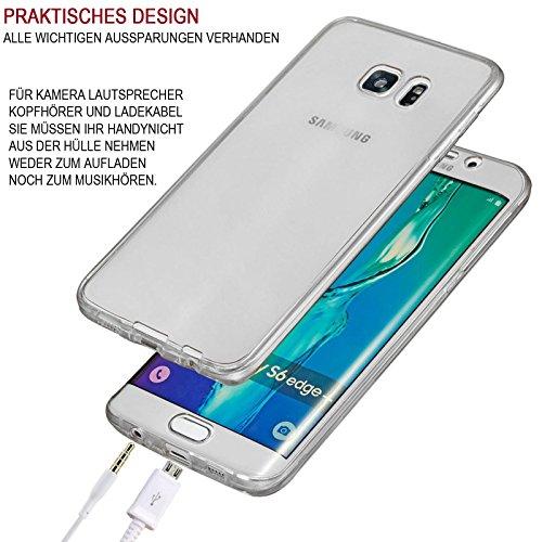 Apple iPhone 7 360° Full Body TPU Schutz Hülle Silikon Touch Case für Vorder und Rückseite Handy Tasche Cover Etui Bumper Farbe: Grau