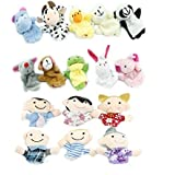 COMING 16pcs Educational Puppets Story Time Finger Puppets-10 Animals and 6 People Family Members Included