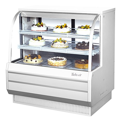 Turbo Tcgb-48-2 Display Case, Curved Glass, Bakery, Refrigerated, 48-1/2