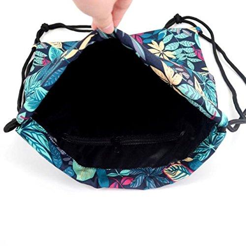 à serrage bandoulière sac femmes cordon hommes femmes sac petit sac sport cordelette fond ou poignée bleu à de ABBY Sac dos Cartable 4SFwTq