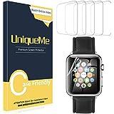 UniqueMe [5 Pack] Protector de Pantalla para Apple Watch 40mm Series 4/5, [Fácil instalación] Soft HD Clear Protector…
