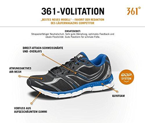 Laufschuhe Freizeit leicht luftdurchlässig 361° volitation schwarz/blau