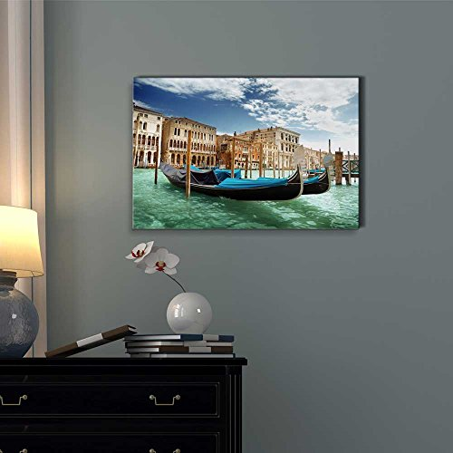 Beautiful Scenery Landscape Gondolas in Venice Italy Wall Decor