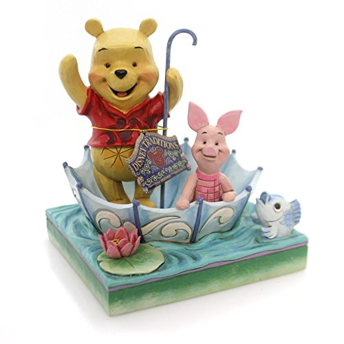 (Disney Traditions by Jim Shore Winnie the Pooh and Piglet 50th Anniversary Stone Resin Figurine, 5.8)