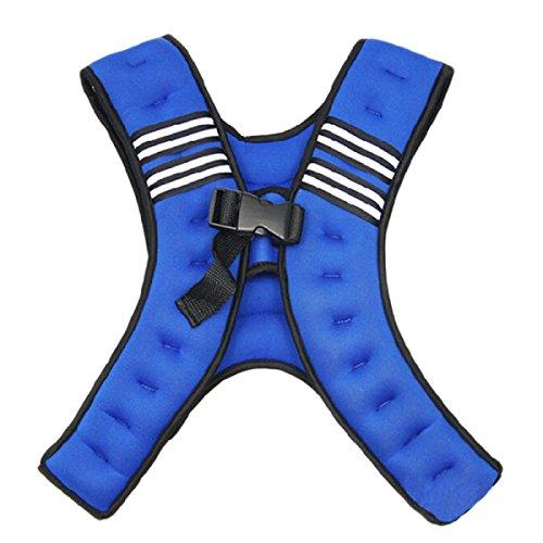 Fitness House 10KG Weighted Vest Gewichtsweste Bodyweighttraining, Blau, Standard