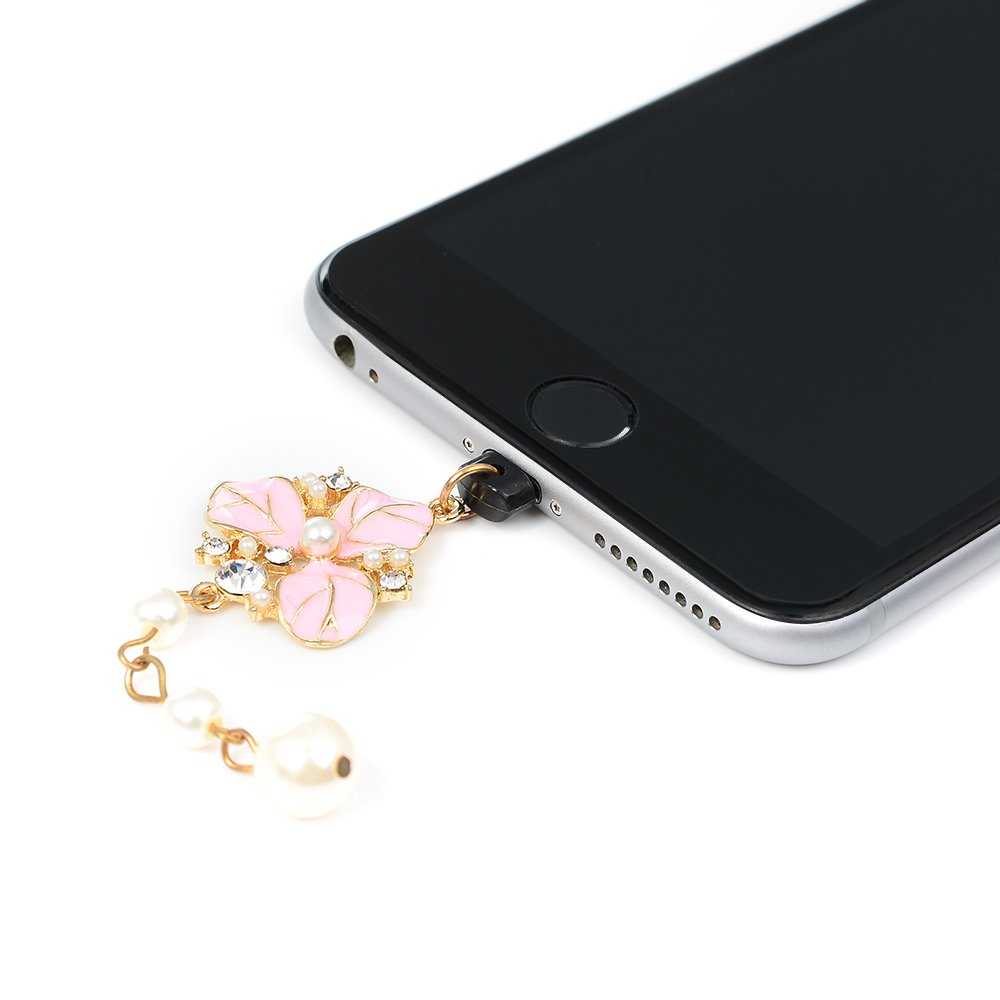 KASOS Dust Plug-Earphone Jack Accessories Bling Shiny Glitter Sparkle Diamonds Rhinestones Gems with Tassel/Cell Charms/Dust Plug/Ear Jack for iPhone Xs Max, for iPhone XR, for iPhone Xs by KASOS (Image #4)