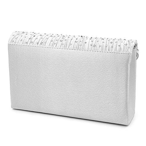Rhinestone Clutch Purse Bag Envelope Women Wedding Clutch Bag Party HEKATE Silver Evening tXRqZx1