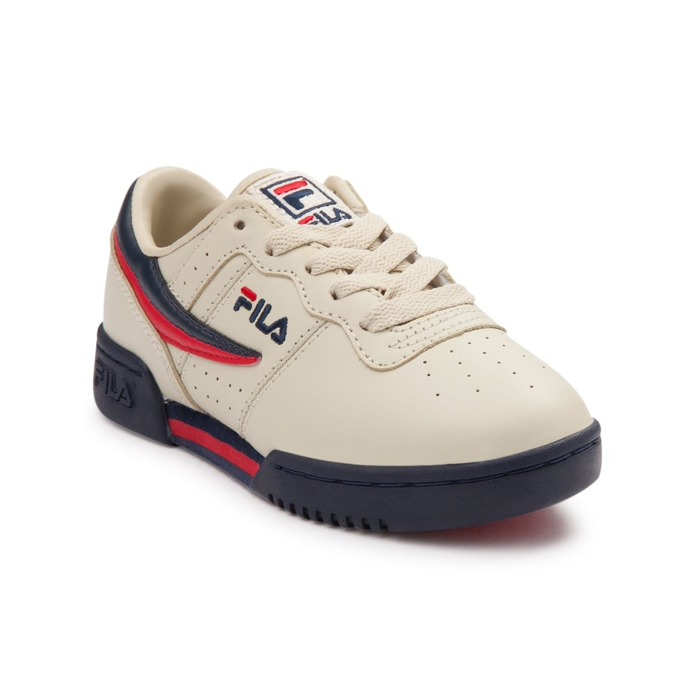 Fila Kid's Original Fitness Sneakers Cream/Peacoat/Fila Red 3