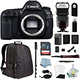 Canon EOS 5D Mark IV Full Frame Digital SLR Camera - Body Only + DSLR Professional Accessory Bundle - Including EVERYTHING You Need To Go Pro