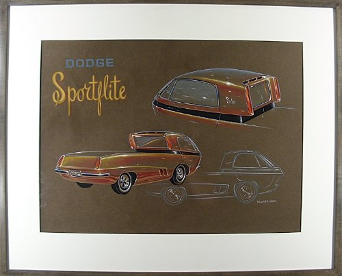 ''Dodge Sportflite'' Concept Art by