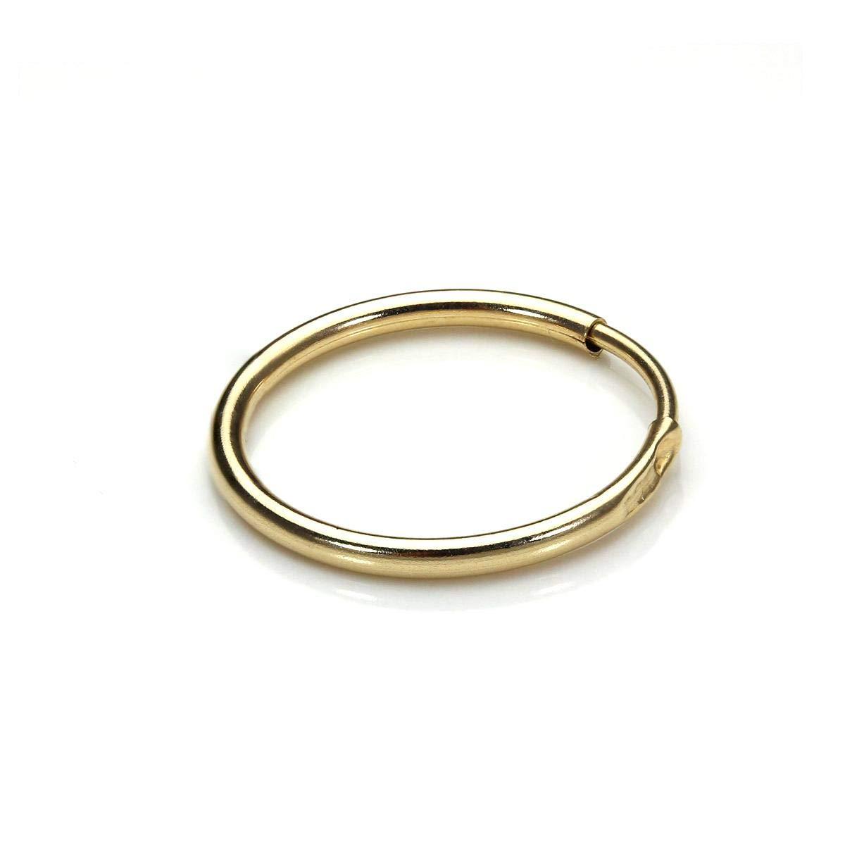 9ct Gold 13mm Sleeper Hoop Earring/Single/Men\'s Earrings