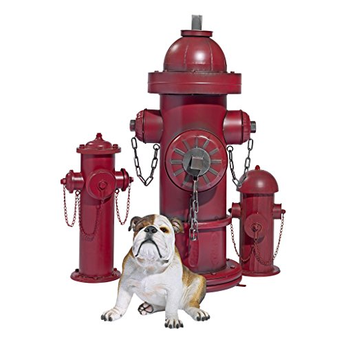 Design Toscano Fire Hydrant Statue Puppy Pee Post and Pet Storage Container, Medium 18 Inch, Metalware, Full Color by Design Toscano (Image #5)