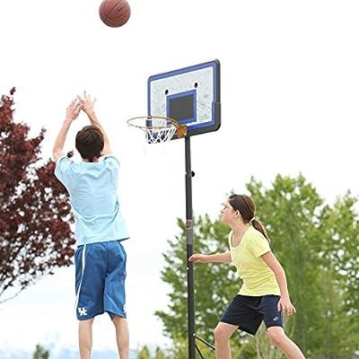 Lifetime Pro Court Height Adjustable Portable Basketball System, 44 Inch Backboard