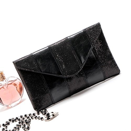 Malloom® 26*15*3cm Mode Frauen Damen Abend Party Pailletten Clutch Envelope Bag