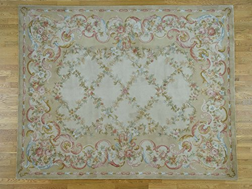 12'x18' Thick and Plush Oversize Savonnerie Floral Trellis Design Rug G36899
