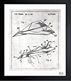 vintage airplane blueprint - Folded Paper Airplane 1983' Vintage Framed Wall Art Print for Home decor & Office. The Airplanes Wall Decor Blueprint Collection by Oliver Gal Hand Framed and Ready to Hang. 15x18 inch