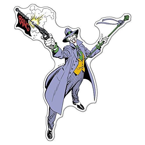 Fan Emblems The Joker Batman Character Car Decal Domed/Multicolor/Clear, DC Comics Automotive Emblem Sticker Applies Easily to Cars, Trucks, Motorcycles, Laptops, Windows, Almost Anything