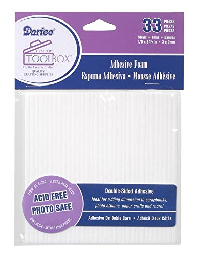 - Double Sided Foam Sticky Strips - White - 33 Pieces