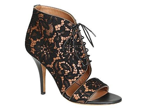 Givenchy alta sandalias de tacón de encaje negro tela zapatos - Número de modelo: BE091993081 822 negro