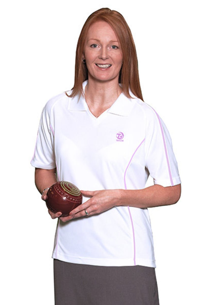 Taylor Bowls Tiree Ladies White Sports Top Small)