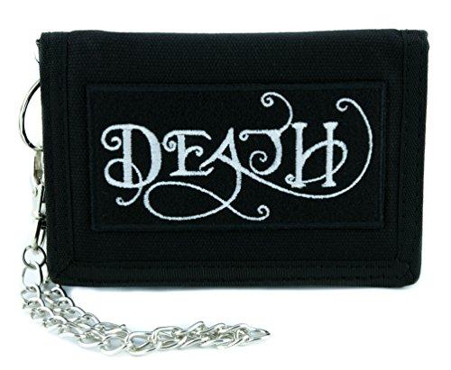 (Iconic Death Symbol Tri-fold Wallet Alternative Clothing Grim Reaper Seventh Seal)