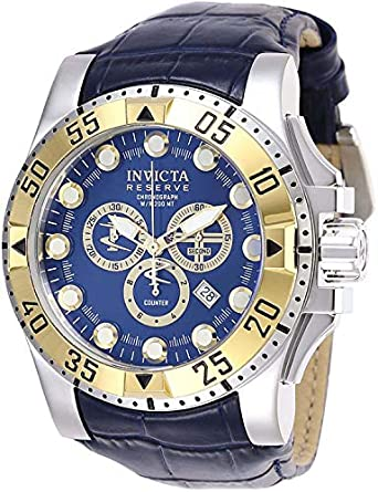 4c9265540 Amazon.com: Invicta Reserve Chronograph Blue Dial Men's Watch 28529: Watches