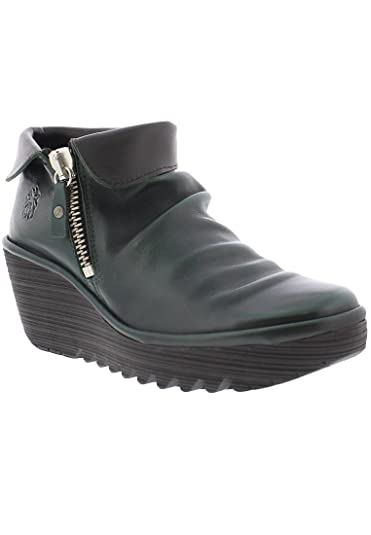 59193f5f227 Image Unavailable. Image not available for. Color  FLY London Yoxi Leather Wedge  Bootie ...