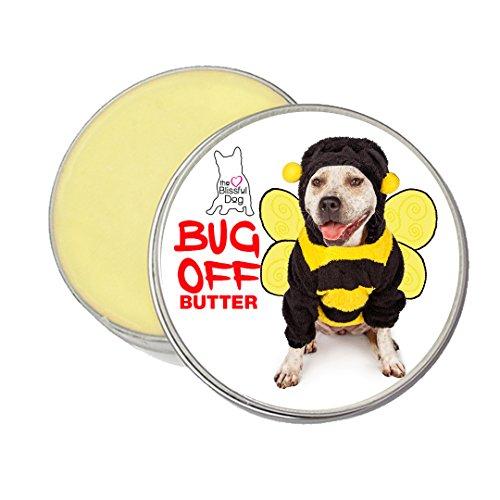 The Blissful Dog BUG-15-PIT - Bálsamo de Mantequilla para Quitar los Insectos de tu Perro con Etiqueta Pit-Bull, 4 oz