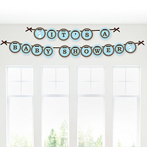 Mommy Silhouette (It's A Boy - Mommy-To-Be Silhouette - Baby Shower Garland Banners)