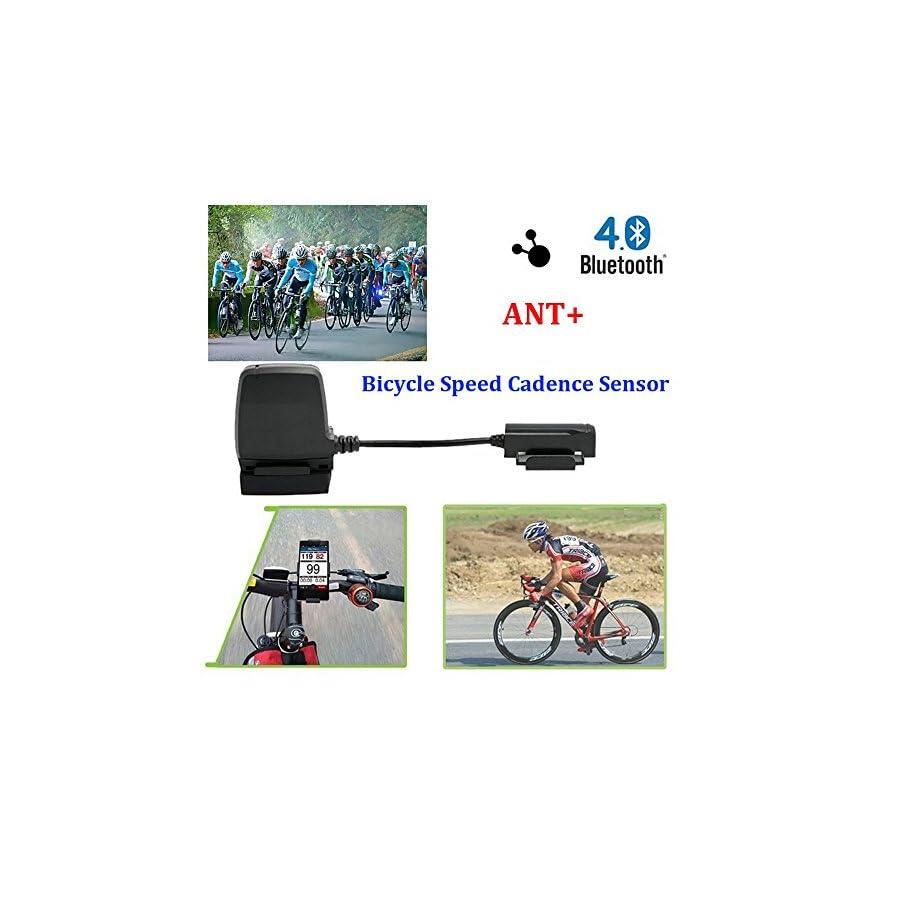 Bluetooth 4.0 & ANT+ Smart Wireless Waterproof Fitness Tracker Bike Speed and Cadence Sensor